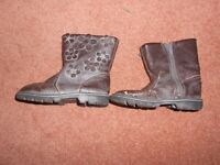 Winter leather boots size 6, from Next, black