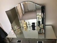 Next mirrored dressing table and mirror set