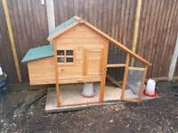 Chicken coop and feeders only