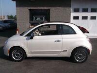 2012 Fiat 500C CONVERTIBLE BLANCHE SUR ROUGE IMPECCABLE 9,995$!
