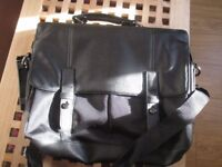 Leather & Material Black Briefcase/Laptop Case. NEVER USED. Immaculate.