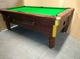 7x4 Pub Pool Table. Slate Bed. Coin Op or Freeplay New Recover & Accessories. Free Local Delivery