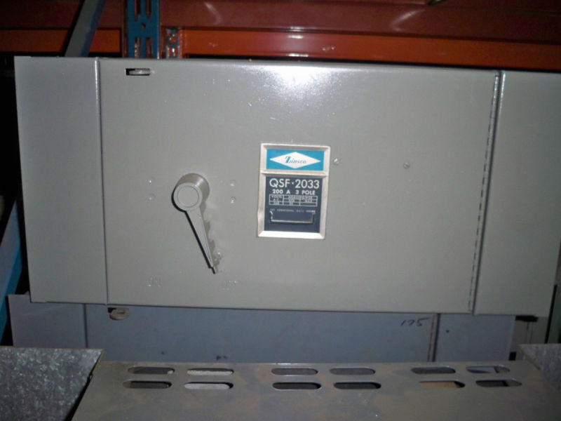 Zinsco Qsf2033 200a Single 3ph 240v Fusible Panelboard Switch Unit