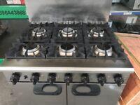 CATERING COMMERCIAL 6 BURNER GAS COOKER OVEN FAST FOOD RESTAURANT CAFE CHICKEN KEBAB BBQ KITCHEN