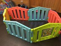 Multicoloured play pen/ room divider