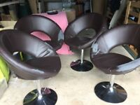 Round glass table 4 chairs