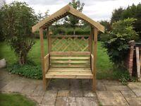 Garden Arbour, seat, bench, new, built.