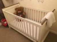 Next home Cot and changing table with storage