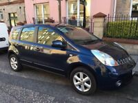 NISSAN NOTE Acenta MPV 2008 blue 1.4 petrol. New MOT. Drives beautifully. Amazing condition!