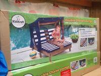 double kids sun loungers/chairs