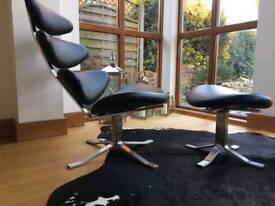 Corona chair and footstool.