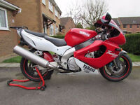 Yamaha Thunderace, 1997, Excellent Condition, New Mot/Tyres, Many Extras, PX 600, Gilera Nexus 500