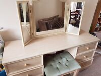 Dressing table and matching chair