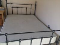 Double Mattress with metal bed