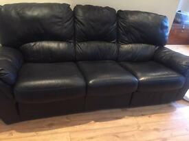 3 and 2 seater reclining leather sofas