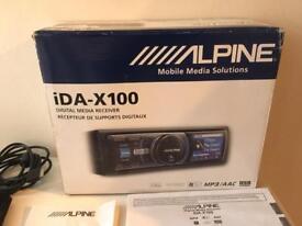 Alpine ida-x100 car stereo