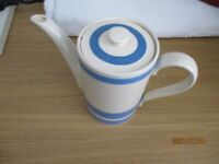Vintage Blue and White Coffee Pot