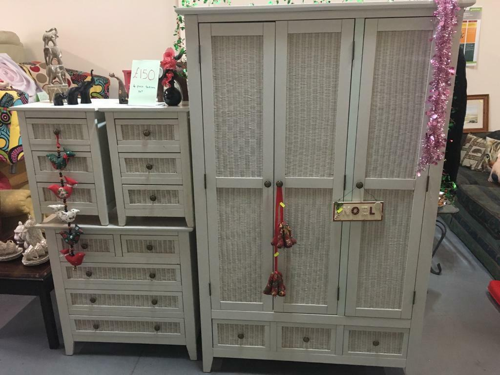 Bedroom set - wardrobe, bedside cabinets, chest of drawers