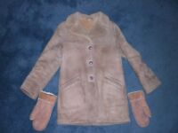 Ladies cold weather sheepskin coat