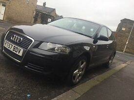 EXCELLENT Audi A3 SE 1.9 TDI DIESEL MANUAL 2008 5 DOOR SPORTSBACK
