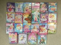 Collection of Barbie films on dvd.