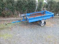 Trailer for 2 wheel tractor