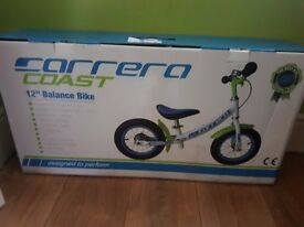 Brand new Carrera Coast 12inch balance bike