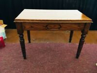 Vintage wooden church table