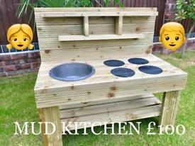 CHILDRENS MUD KITCHEN ONLY £100