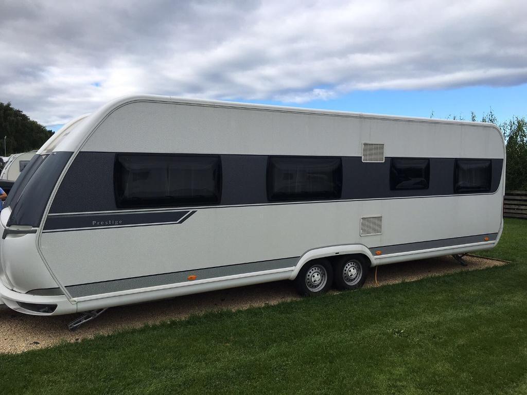 hobby prestige 7 berth caravan 2014 in morpeth. Black Bedroom Furniture Sets. Home Design Ideas