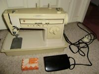 Sewing machine, electric, complete with carry case