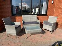 Rattan four piece furniture set