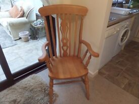 LARGE SOLID WOOD CHAIR
