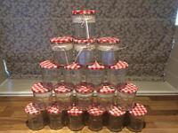 30 Bonne Maman Jam Jars, weddings, crafts, candle holders, shabby chic, preserve jars