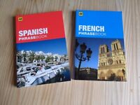 2 small Phrase books; spanish and french AA