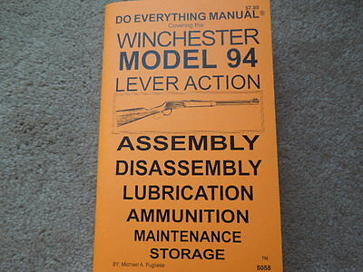 Winchester Model 94 Model 1894 Plus Parts For Others Rifle Manual 67 Pages  - $6.95