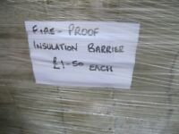 Fire Insulation Barrier £1.50 A Slab. ( 70mm x 1000mm x 180mm )