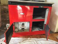 Oil fuelled Red Aga in full working order. Buyer to dismantle.