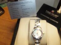 GENUINE DIAMOND LADIES TAG Heuer WATCH MODEL NO WAF1416 PEARL FACE RRP OVER £3000 UNWORN £1250