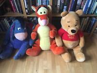 Job lot of large Winnie The Pooh cuddly toys