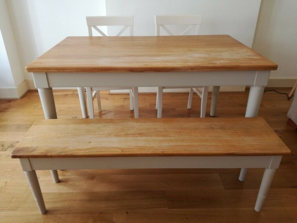 John Lewis Dining Table Bench And 2 Chairs