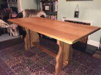 Vintage oak dining room table.