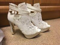 Ladies White Lace Shoes