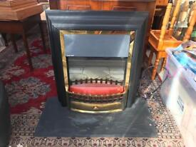 Superb Dimplex Coal Effect Fireplace with Welsh Slate Hearth