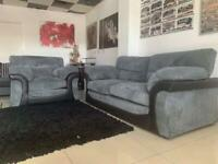 Ex display 3 seater sofa with armchair