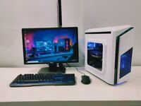 Gaming Computer Desktop PC - Ice White - Intel i7, 16GB RAM, GTX 1660