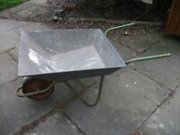 Wheel barrow light weight, galvanised