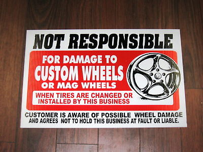 Any Service Shop Sign Custom Wheels Mags Disclaimer