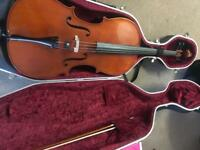 Roderick Paesold 602 cello with Orchestra octagonal bow and high quality Hiscox Liteflite cello case