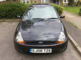 Ford KA Zetec Climate 2008 1.3 cc in sparkling Black (Location Southampton)